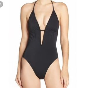 Milly Cabana plunge one piece (Blue)